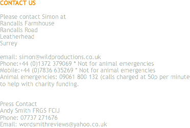 CONTACT US Please contact Simon at